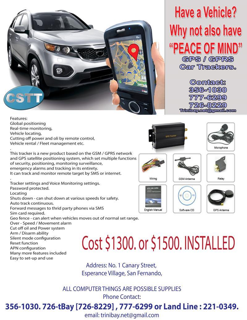 GPS GSM Car Tracker System in Trinidad