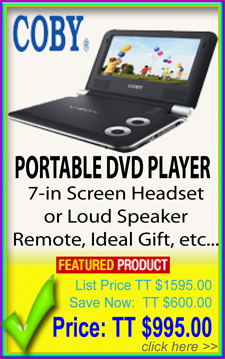 Portable DVD players for sale in Trinidad Caribbean