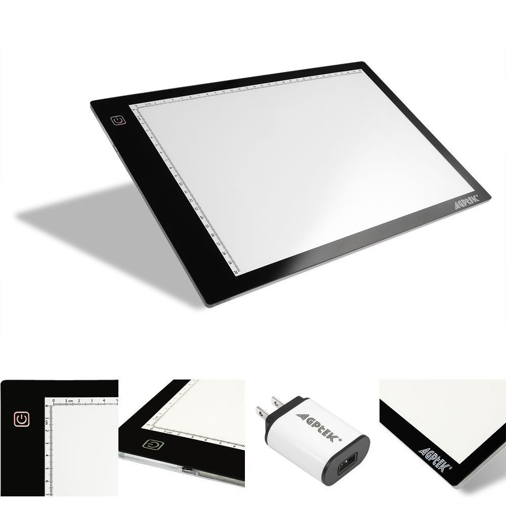 AGPtEK LED Tracing Light Box 14.7 Inch X 9.45 Inch Drawing Tablet Pad Adjustable Brightness For Sketching Drawing Projects For Sale in Trinidad