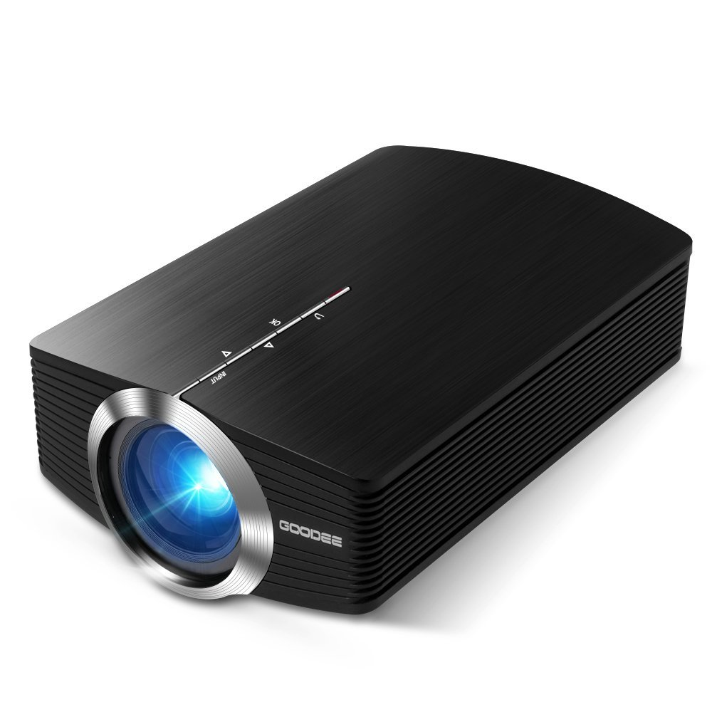 Projector, GooDee Mini Portable Projector 1800 Luminous Efficiency Home Cinema Theater Movie Video Projector Support Multimedia HDMI USB for Home Entertainment Games For Sale In Trinidad