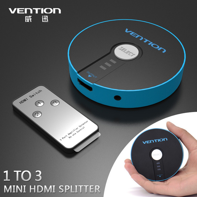 Vention Hdmi Switch Switcher 3 in 1 Out Hdmi Splitter Remote for Hdtv 1080p For Sale In Trinidad