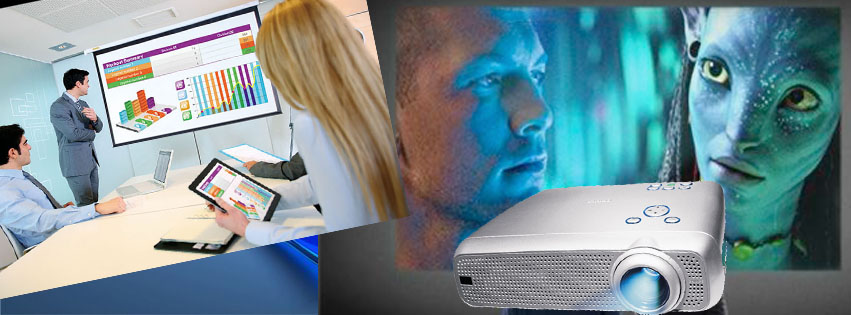 Projectors, Projector Screens and Powered Speakers Boxes for Rent